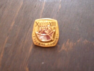 Vintage Russian Enamel Pin Badge Excellent Condition