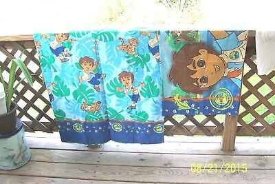Nick Jr Diego Twin Sheet Set+Matching Valance I'm An Animal Rescuer Dora Friend