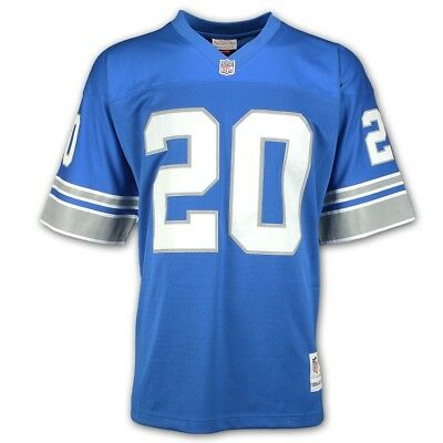 41dc1d853f5 BARRY SANDERS 1996 Detroit Lions Mitchell   Ness Road White Legacy ...