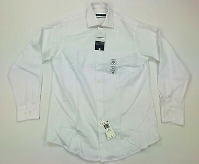Geoffrey Beene Mens Long Sleeve Dress Shirt Classic Fit White Variety