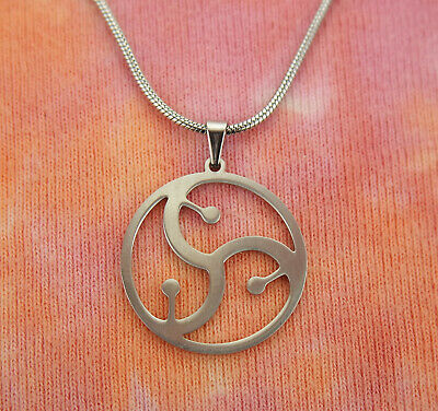 BDSM Symbol Necklace, Stainless Steel Sign Charm Pendant Gift Boxed Men or Women