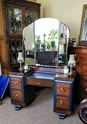 Antique vanity table with 3 mirrors 1920's vintage