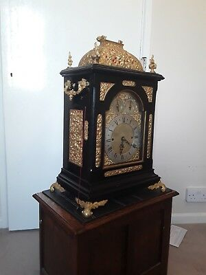 RARE triple fusee clock (9 bells) 1840