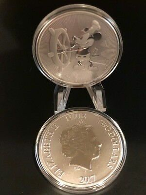 Disney Steamboat Willie 1 troy oz silver coin BU--great gift!