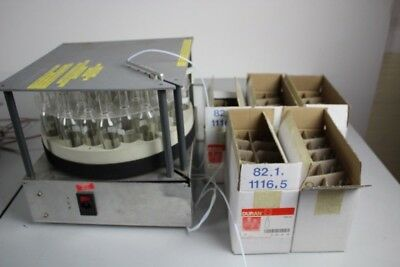 Fraction Collector + 5 boxes of Glassware.  Spares or Repair Laboratory Lab