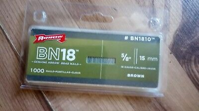 Joblot of Arrow BN1810 Brad Nail 15mm 1000