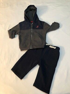 7a90da817 Nautica Baby Boy Athletic Jogging Track Sweat Suit Outfit Navy Medium Gray  3 6 M