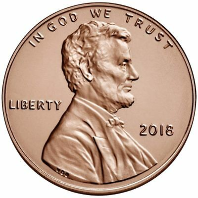"TWO  (2)  2018 - P   BU  Lincoln Shield Pennies from Logistics Rolls. ""IN STOCK"""