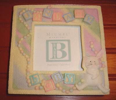 "Michel & Company January Baby Picture Photo Frame 4"" x 4"""