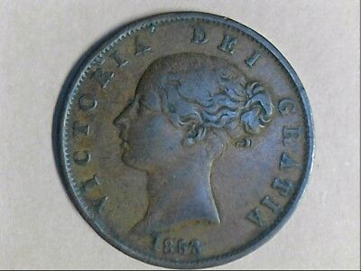 1853 United Kingdom  Half Penny