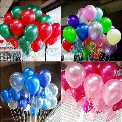 20X Merry Christmas Latex pearl plain  Balloons Green & Red Xmas Decoration new