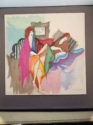 Itzchak Tarkay Signed Serigraph Angelina and Dominique