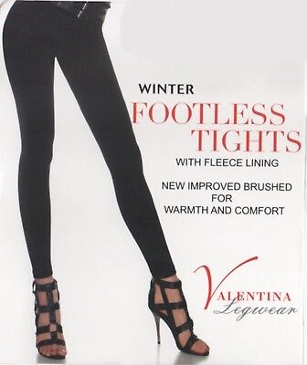 Women Ladies Girls Footless Tights Warm Thermal Tights Fleece Lined New