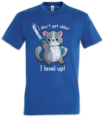I Don't Get Older I Level Up Cat T-Shirt meow cats cat Love Fun Game Gamer Nerd