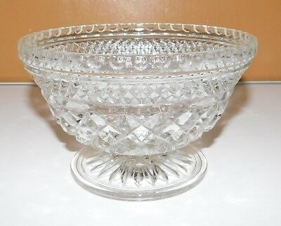 Wexford Anchor Hocking Clear Glass Footed Serving Centerpiece Bowl Candy Dish