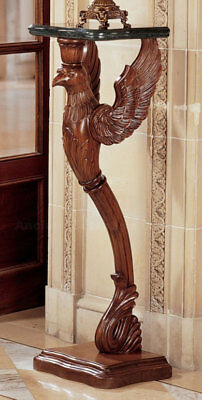 Lion Griffin Sculpture Pedestal Made of Mahogany 47""