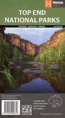 Top End National Parks Map - Litchfield Katherine Kakadu - Hema - 1:350K