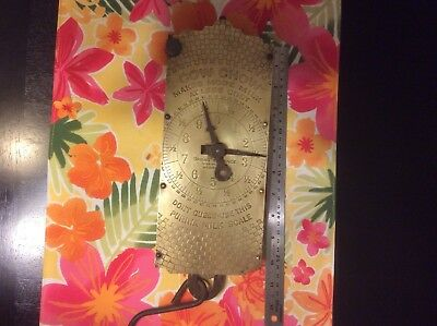 Antique Purina Cow Chow Feed Advertising General Store Milk Scale