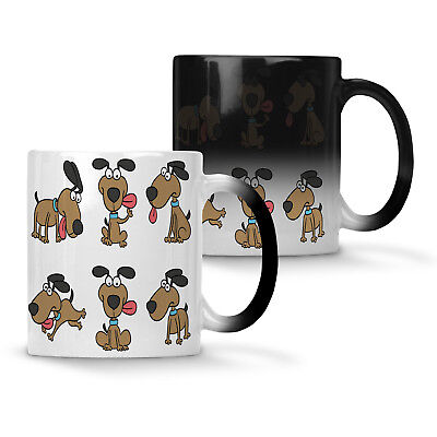 Happy Dog smile Funny Colour changing 11oz Mug p413w