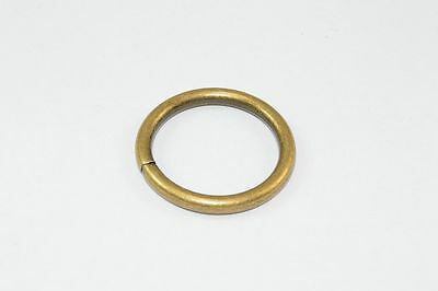 PACKET 6 x Curtain Rings Antique Brass Plated Metal Id 25Mm