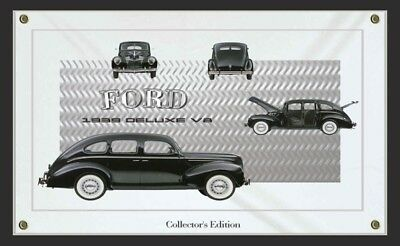 1939 Ford Deluxe V8 Car Sign Banners-Personalize using your Auto Pictures.