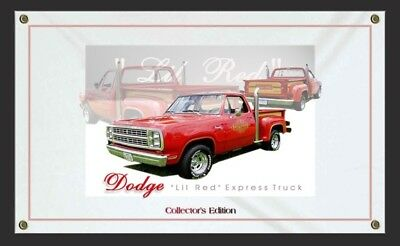 Dodge Lil Red Express Truck Sign Banners-Personalize w/ your Truck Pictures.
