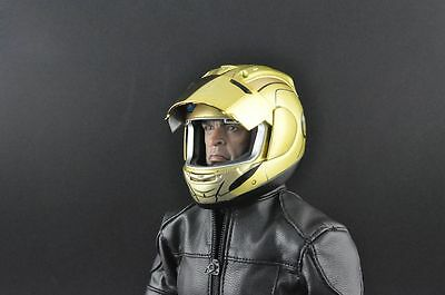 """1:6 Scale ZY toys Blue Motorcycle Helmet Mask F 12"""" HT Action Figures Model Toy"""