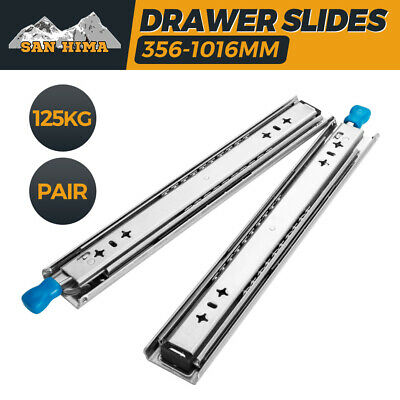 125KG Locking Drawer Slides Runners Lengths 356mm to 1016mm Draw Trailer 4WD