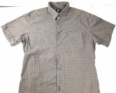 Dockers Button Up Shirt Mens Size Large Short Sleeve Checkered With Pocket EUC