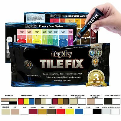MagicEzy Tile Fix: Fill & Color Chipped & Cracked TILES Fast - GUARANTEED