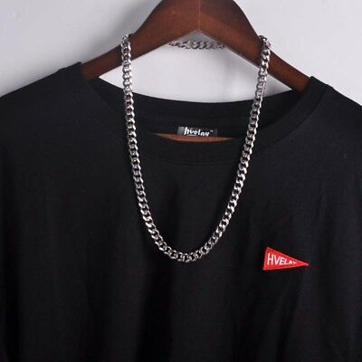 """Mens Silver Stainless Steel Hip Hip 9mm Miami Cuban Link Chian Necklace 24"""" S01"""
