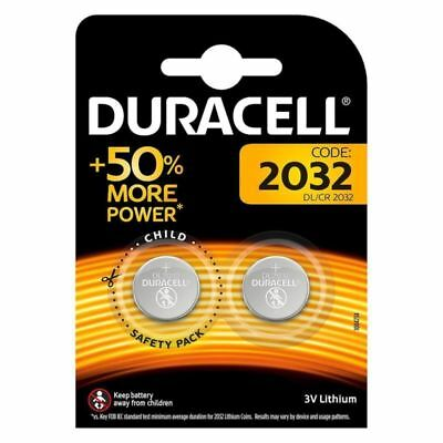 Lot de 2 à 10 CR-2032 / DL-2032 Pile DURACELL bouton Lithium 3V DLC 2027