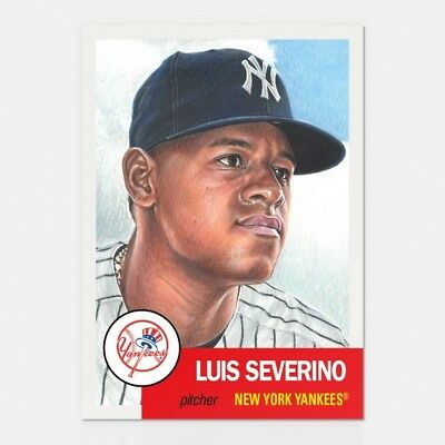 2018 Topps Living Set 115 Luis Severino Yankees Retro 1953 Style