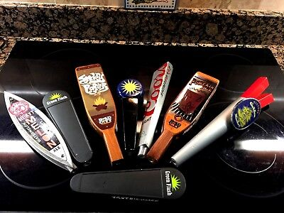 Various Lot Of (8) Used Beer Tap Handles Free Shipping Included