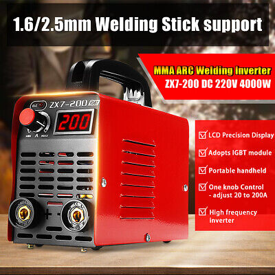 220V ZX7-200 Mini MMA ARC Welder IGBT Welding Machine Soldering Inverter Tool