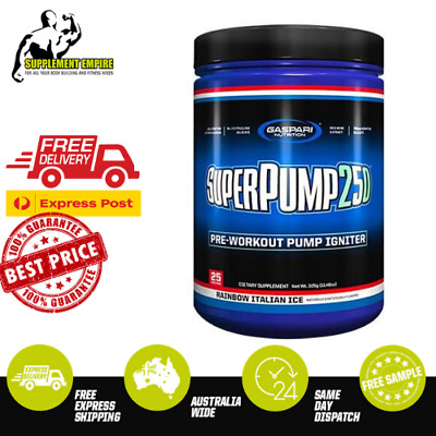 Gaspari SuperPump 250 Pre Workout Super Pump Energy Preworkout 25 Serves