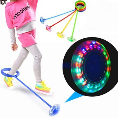 LED Flashing Jumping Ring Colorful Ankle Skip Jump Ropes Sports Gym Swing Ball