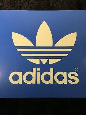 """Adidas Collectible Double Sided Shoe Sign Advertisement 10x20"""""""