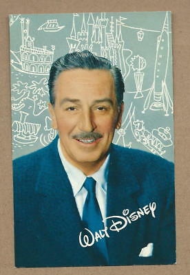 1955 Postcard Portrait of Walt Disney Himself