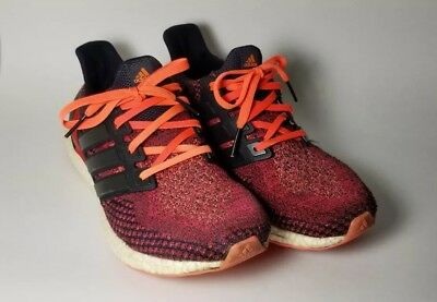 4f8bf8e8ea6 Used Adidas Ultra Boost 2.0 Mens Running Shoes Solar Red Black AQ5930 Size  10