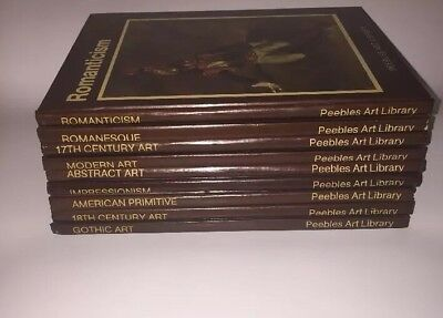 Peebles Art Library Lot Of 9 H/C Books- Gothic, Romanticism, Abstract, Modern