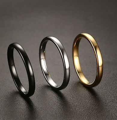 65c4a1c5085 2mm Ladies Cartier Gold Tungsten Carbide Polished Plain Domed Wedding Band  Ring