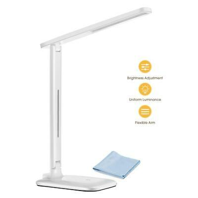 TOPELEK LED Eye-Caring Folding Desk Light Dimmable Office Lamp with 9