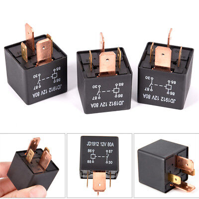 Waterproof Heavy Duty Relay 4Pin DC 12V 80A JD1912 Automotive Car Relay/