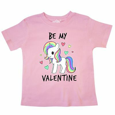 Inktastic Be My Valentine With Chibi Unicorn Toddler T-Shirt Valentines Day Kids
