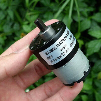 37MM DC 6V~12V 30RPM Slow Speed Large Torque Micro Full Metal GearBox Gear Motor