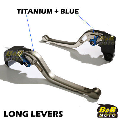 Fit Yamaha TMAX 530 XP500 15 16 Titanium Long CNC Brake Levers LTU AU