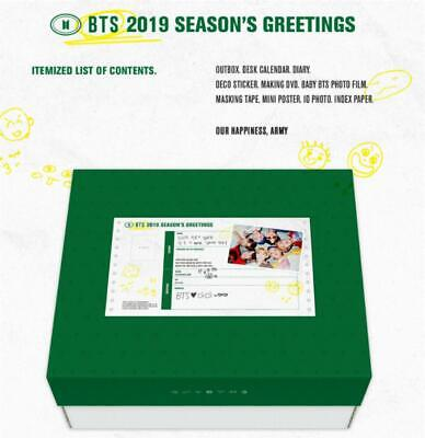 Bangtan Boys 2019 BTS Season's Greeting Just Opened Package with Free Gift