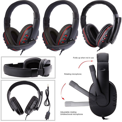 3.5mm Wired Gaming Headset Headphone For PS4 Xbox One Nintendo Switch MY