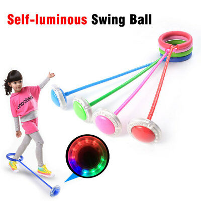 LED Flashing Lights Ankle Skip Ball Jumping Ropes games Self-luminous Swing Ball